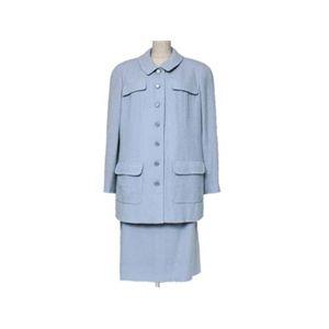 【現品限り】CHANEL(シャネル) スーツ ジャケット・スカート ブルー【中古A】