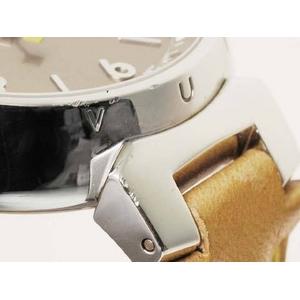 【現品限り】LOUIS VUITTON(ルイ ヴィトン) 腕時計 タンブール ボーイズ 革ベルト クォーツ Q1312【中古AB】