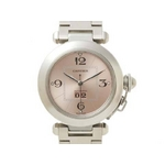 【現品限り】Cartier(カルティエ) 腕時計 パシャC ビッグデイト ピンク文字盤【中古SA】