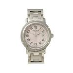 【現品限り】HERMES(エルメス) 腕時計 クリッパー SS ピンクシェル文字盤 クオーツ ボーイズ CL6.410【中古SA】