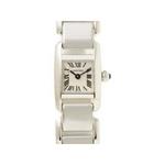 【現品限り】Cartier(カルティエ) 腕時計 タンキッシムSM レディース クオーツ K18WG W650029H【中古SA】