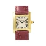 【現品限り】Cartier(カルティエ) 腕時計 タンクフランセーズSM YG/クロコ 【中古A】