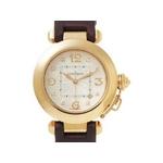 【現品限り】Cartier(カルティエ) 腕時計 パシャ32 K18PG/サテン 8Pダイヤ オートマ WJ11913G 【中古A】