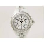 【現品限り】CHANEL(シャネル) 腕時計 J12 33mm ホワイトセラミック H1420 レディースウォッチ【中古A】