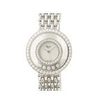 【現品限り】Chopard(ショパール) 腕時計 ハッピーダイヤ シェル文字盤 K18WG 209064-1004【中古SA】