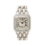 【現品限り】Cartier(カルティエ) 腕時計 ミニパンテール WG 2重ダイヤ 【中古A】