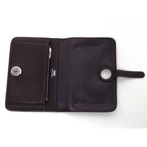 【現品限り】HERMES(エルメス) 二つ折り財布 ドゴンコンパクト トゴ パープル 【中古A】