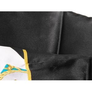 【現品限り】CHANEL(シャネル) スカーフ ジュエリー柄 黒 シルク100% 【中古A】