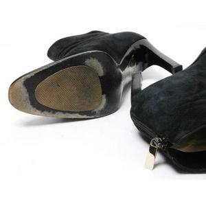 【現品限り】GUCCI(グッチ) ショートブーツ スエード 黒 ブラック #36.5 【中古B】