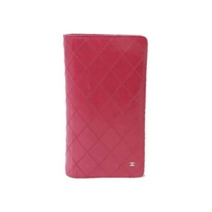 【現品限り】CHANEL(シャネル) ビコローレ 2つ折長財布 ピンク A46356 【中古B】