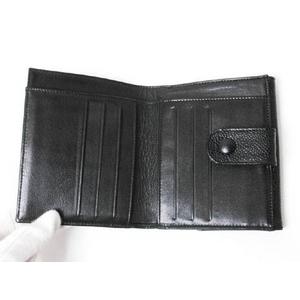 【現品限り】CHANEL(シャネル) Wホック財布 キャビア 黒 A01427 【中古SA】