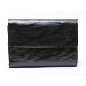【現品限り】LOUIS VUITTON(ルイヴィトン) エピ 3つ折財布 黒 ブラック 証明書ケースなし M63712 【中古B】