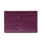 【現品限り】Yves Saint Laurent(イヴサンローラン) カードケース パテント パープル 211908 【中古SA】