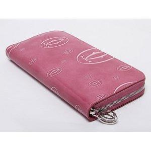 【美品 現品限り】 Cartier [カルティエ] ハッピーバースデー ラウンドファスナー長財布 ピンク L3001255 【未使用】