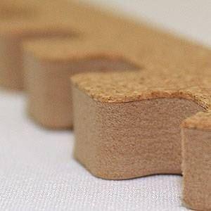 やさしいコルクマット 真中用サイドパーツ 8本 ラージサイズ(45cm×45cm) 〔大判 ジョイントマット クッションマット 赤ちゃんマット〕