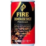 キリン FIRE ファイア デミタスショット 170g缶 150本セット (5ケース)