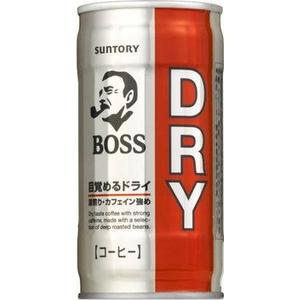 サントリー BOSS(ボス) ドライ 190g缶 90本セット(3ケース)