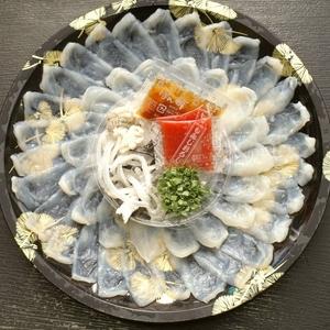 【超お買い得】大分県産 豊後ふぐ刺身  1皿3人前盛り