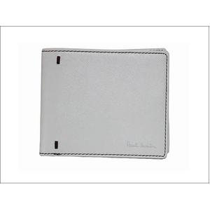 Paul Smith(ポールスミス) 小銭入れ付き 2つ折財布 レザー ホワイト×パープル PSP837-60