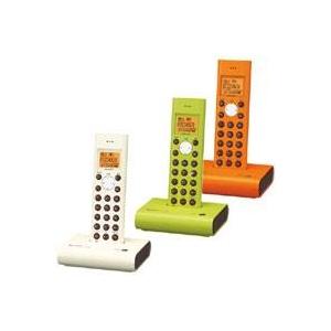 シャープ コードレス電話機(子機のみ) JD-S05CL オレンジ系(D)