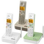 サンヨー デジタルコードレス留守番電話 TEL-DJ3 リーフグリーン
