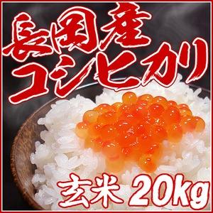 平成27年産新米!(株)中村農園の新潟県長岡産コシヒカリ玄米20kg(5kg×4袋)