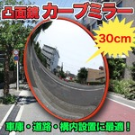 車庫 道路 構内設置に最適! 凸面鏡 カーブミラー 直径30cm