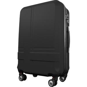 スーツケース 中型4-6日用 Mサイズ キャリーケース 超軽量 TSAロック搭載 大容量 ダブルファスナー 8輪キャリーバッグ 頑丈 人気色 ブラック