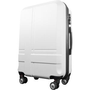 スーツケース 中型4-6日用 Mサイズ キャリーケース 超軽量 TSAロック搭載 大容量 ダブルファスナー 8輪キャリーバッグ 頑丈 人気色 ホワイト