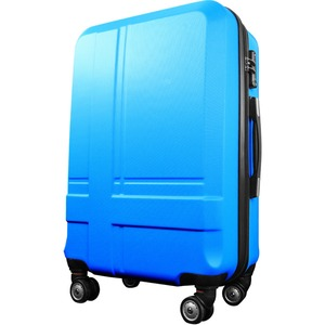 スーツケース 中型4-6日用 Mサイズ キャリーケース 超軽量 TSAロック搭載 大容量 ダブルファスナー 8輪キャリーバッグ 頑丈 人気色 ブルー