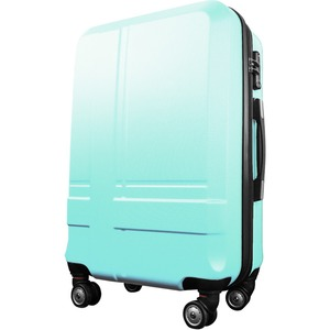 スーツケース 中型4-6日用 Mサイズ キャリーケース 超軽量 TSAロック搭載 大容量 ダブルファスナー 8輪キャリーバッグ 頑丈 人気色 グリーン