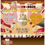 金元宝★招き猫ストラップ ゴールド【専用巾着袋付き】