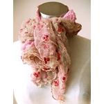 MARTINE BOISSY(マーティンボワシー) チュールレーススカーフ roseRougePoudre