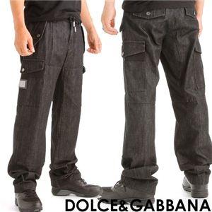 DOLCE&GABBANA(ドルチェ&ガッパーナ) メンズ デニム地カーゴパンツ G4F0ED-G8B95 (44)
