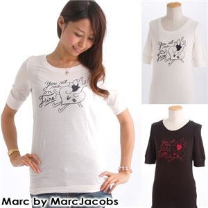 MARK BY MARK  JACOBS(マークバイマークジェイコブス) レディースプリントTシャツ 60002【BLACK】S