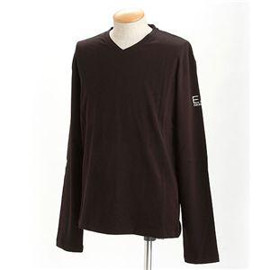 EMPORIO ARMANI(エンポリオ アルマーニ) ロゴプリントロングTシャツ 273117-0S206/【B】ブラックXL