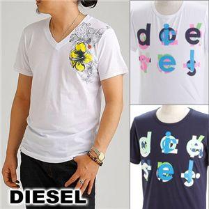 DIESEL(ディーゼル) メンズ プリントTシャツ BMOWT-OTSK CG5U-00EKW ホワイト EUサイズL