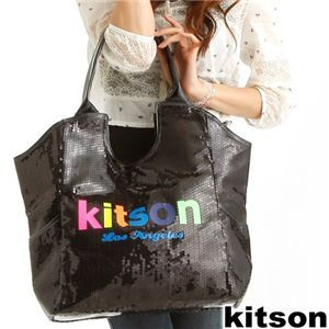 Kitson(キットソン) SEQUIN NEON LOGO TOTE 3879・Black
