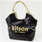 kitson(キットソン) スパンコール バッグ SEQUIN BAG Black×Gold