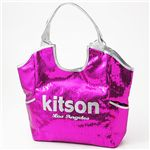 kitson(キットソン) スパンコール バッグ SEQUIN BAG Fuchsia×Silver