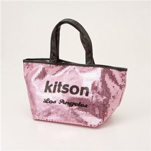 kitson(キットソン) スパンコール ミニトートバッグ SEQUIN MINI TOTE Pink×Black