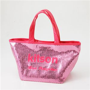 kitson(キットソン) スパンコール ミニトートバッグ SEQUIN MINI TOTE Pink×Pink