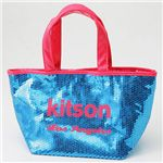 kitson(キットソン) スパンコール ミニトートバッグ SEQUIN MINI TOTE Aqua×Pink