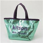kitson(キットソン) スパンコール ミニトートバッグ SEQUIN MINI TOTE EmeraldGreen×Black