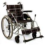 【消費税非課税】自走介助式 アルミ車椅子 AA-01B 超軽量