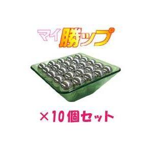 パチンコ玉50発簡単計量! マイ勝ップ(マイカップ) グリーン 【10個セット】