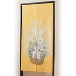 黄色い風水のれん 【ロングタイプ/長さ170cm】 洗える 日本製