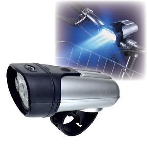 3LED サイクルライト/自転車ライト 【360度首振り可】 防雨・防水設計 ゴムベルト式 簡単装備