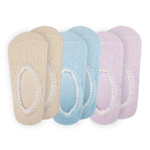 爽やかメッシュカバーソックス/靴下 【3色組】 適応サイズ:22〜25cm 綿・ポリエステル
