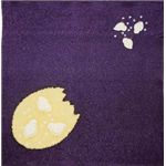 友禅縮緬風呂敷中巾 ひよこ 紫